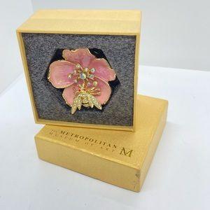 Buttercup Bee Box METROPOLITAN MUSEUM of ART Enamel Crystal Stones